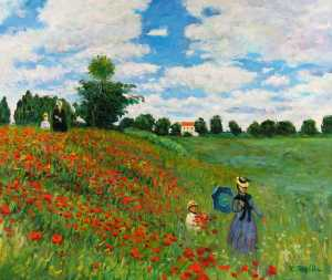 Red Poppies at Argenteuil, Claude Monet