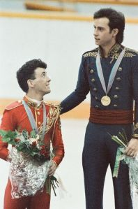 The Brians on the Olympic podium, photo by Calgary Sun